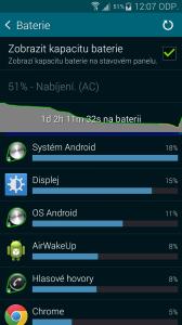 Samsung Galaxy S5 nízká zátěž