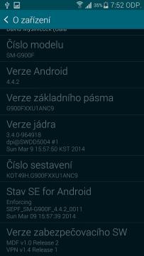 Samsung Galaxy S5 o zařízení