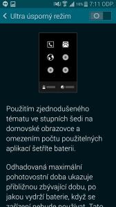 Samsung Galaxy S5 ultra úsporný režim 2