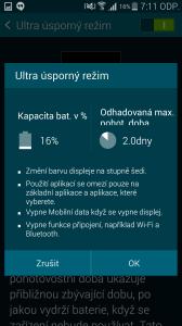 Samsung Galaxy S5 ultra úsporný režim 3