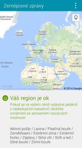 Samsung Galaxy S5 zeměpisné zprávy