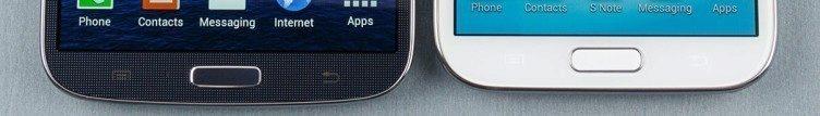I z tohoto záběru je každému okamžitě jasné, že se dívá na dva telefony značky Samsung