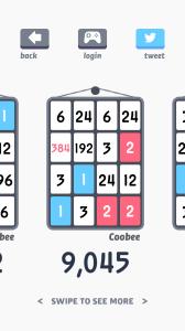 Threes! - skóre na nástěnce