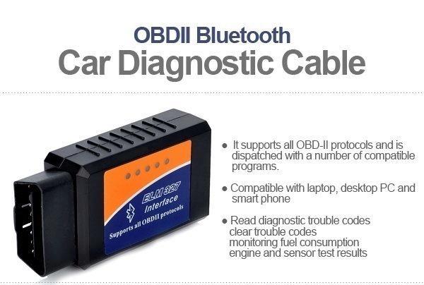 Modul OBD-II, poskytující data přes Bluetooth