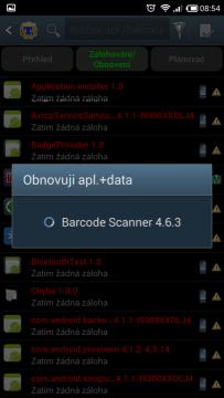 Obnovuje se aplikace a data