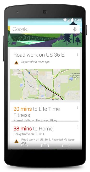 Google Now s předstihem upozorní na možné zpoždění