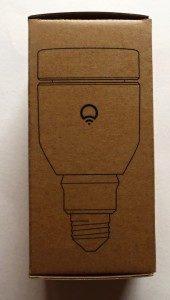 Žárovka LIFX - krabička: vyobrazení žárovky