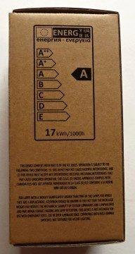 Žárovka LIFX - krabička: informace o energetické třídě
