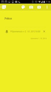 Google Keep 2.2: akční nabídka mění barvu