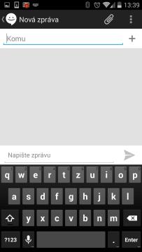Odeslání SMS novému kontaktu