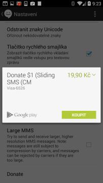 Možnost přispět na vývoj aplikace