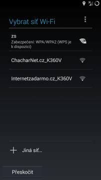 Výběr Wi-Fi