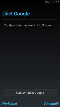 CyanogenMod 11: chcete konfigurovat účet Google?