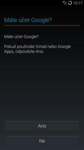 CyanogenMod 11: máte účet Google, nebo ho chcete založit?