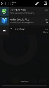 Upozornění na novou aplikaci