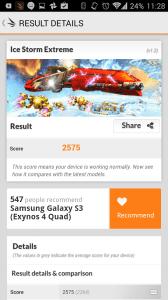 Výsledky v 3DMark Ice Storm Extreme