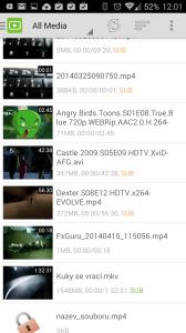 DicePlayer: nalezená videa