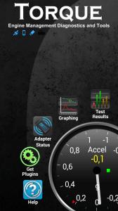 Domovská obrazovka Torque Pro