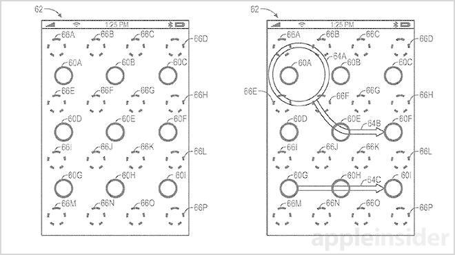 Apple pattern unlock