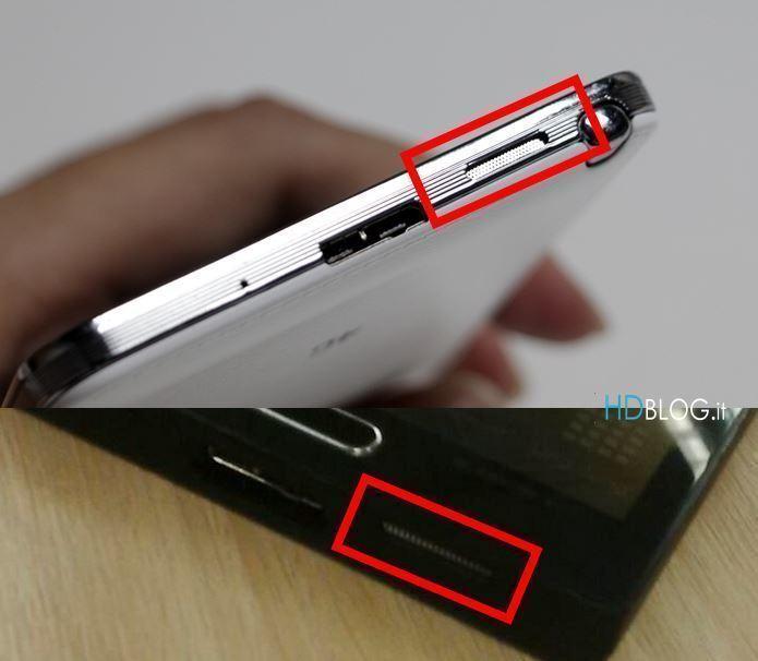 Samsung Galaxy F (dole) ve srovnání s Notem 3