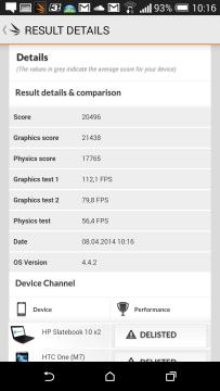 HTC One M8 recenze - 3Dmark