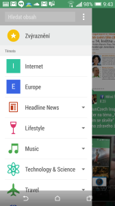 HTC One M8 recenze - BlinkFeed