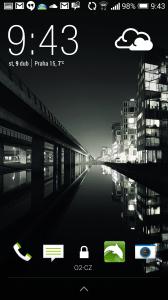 HTC One M8 recenze - Lockscreen