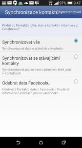 HTC One M8 recenze - synchronizace
