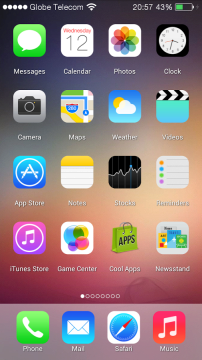 iOS 7 Launcher 1 android aplikace