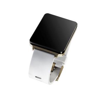 lg g watch bílo-zlaté