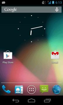 nokia x s čistým androidem custom rom home screen