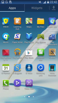 Snímek obrazovky z Galaxy Note II s Androidem 4.4.2 KitKat