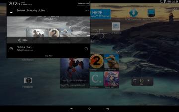Sony Xperia Z2 Tablet - Levá notifikační lišta
