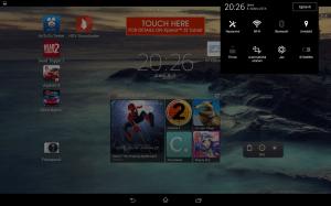 Sony Xperia Z2 Tablet - Pravá notifikační lišta