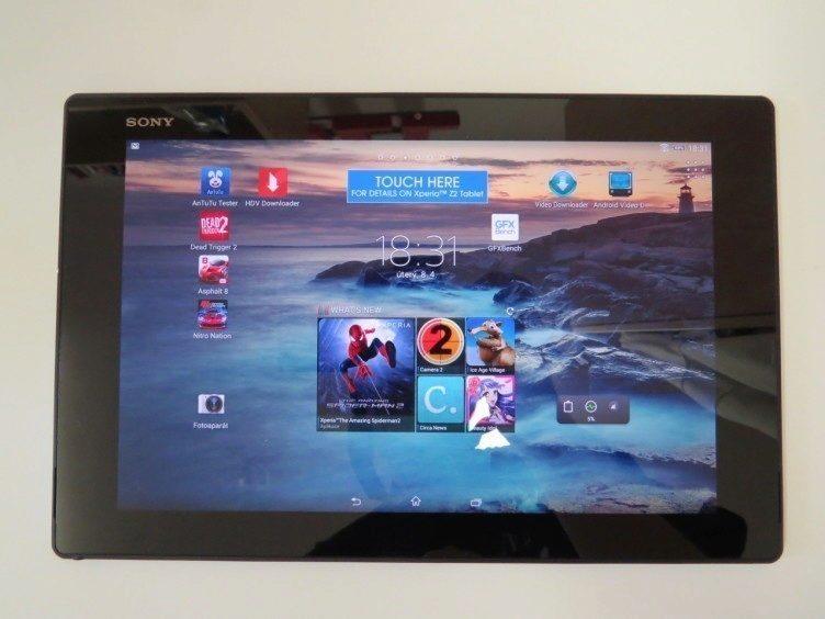 Sony Xperia Z2 Tablet - přední strana