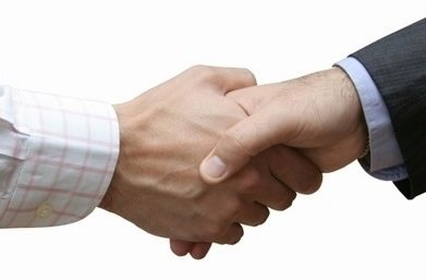 Great handshake !!