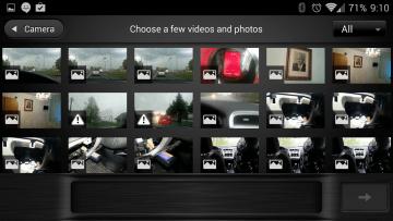 Výběr klipů a fotografií do filmu