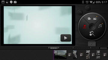Režim editace videa