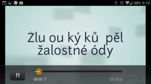 S českými znaky má KineMaster problémy