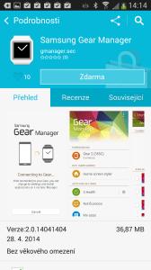 Aplikace Samsung Gear Manager se instaluje skrze Samsung Apps