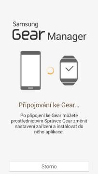Proces spárování Samsung Gear Manager s hodinkami