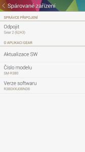 Gear Manager: Spárované zařízení