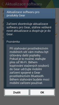 Gear Manager: Aktualizace softwaru