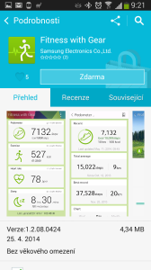 Instalace aplikace Fitness with Gear