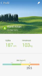 Fitness with Gear: nastavení profilu