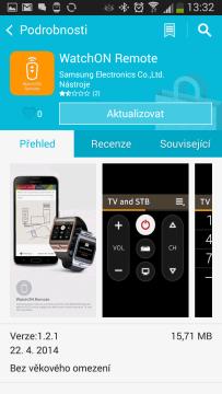 Samsung Apps: aktualizace aplikace v hodinkách