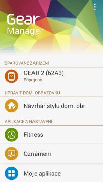 Aplikace Gear Manager