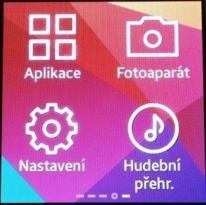 Domovská obrazovka s ikonami