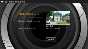 Výběr výstupního formátu videa