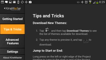 Uživatelská příručka: sekce tipů a triků